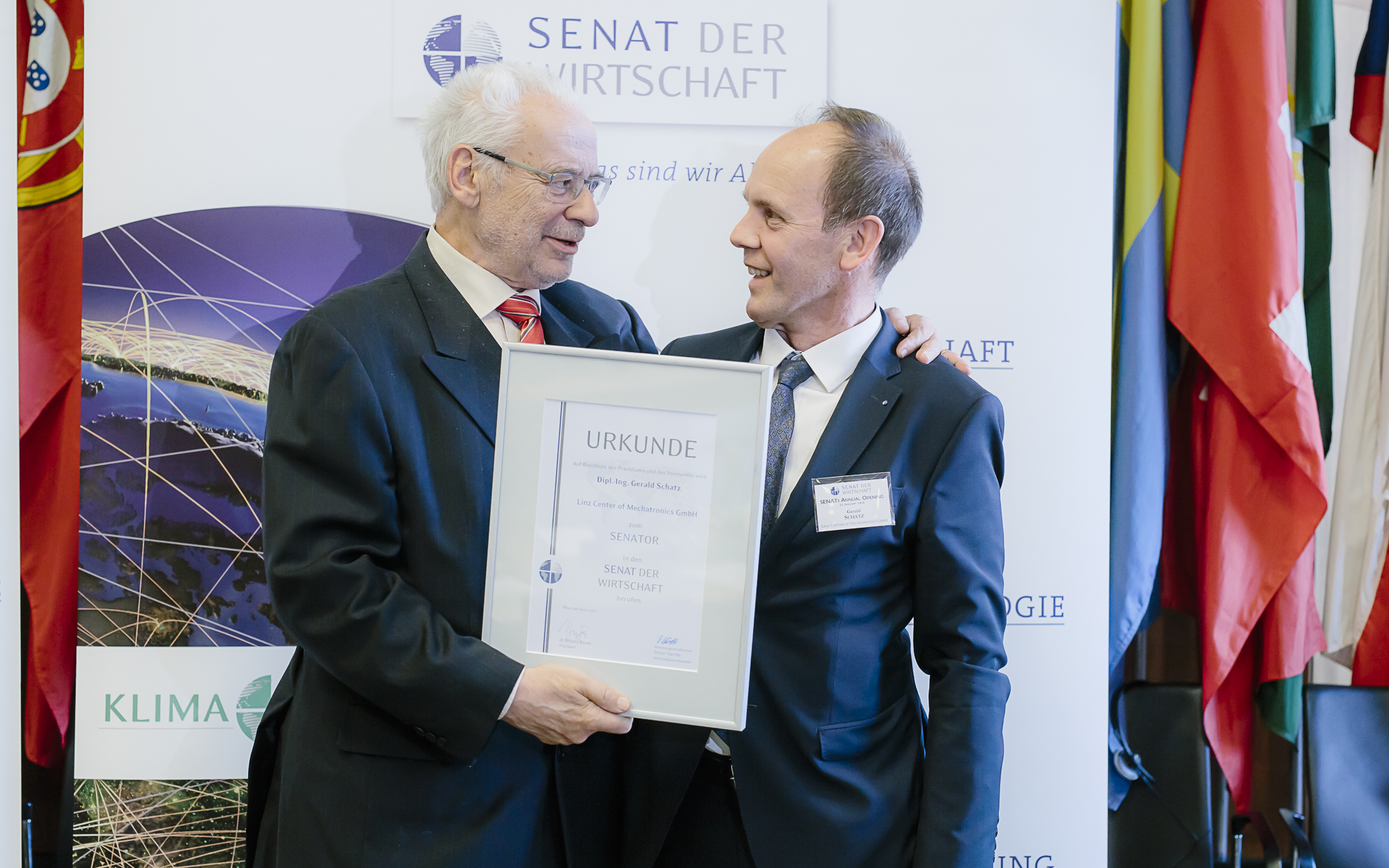 Verleihung der Mitgliedschaft im Senat der Wirtschaft
