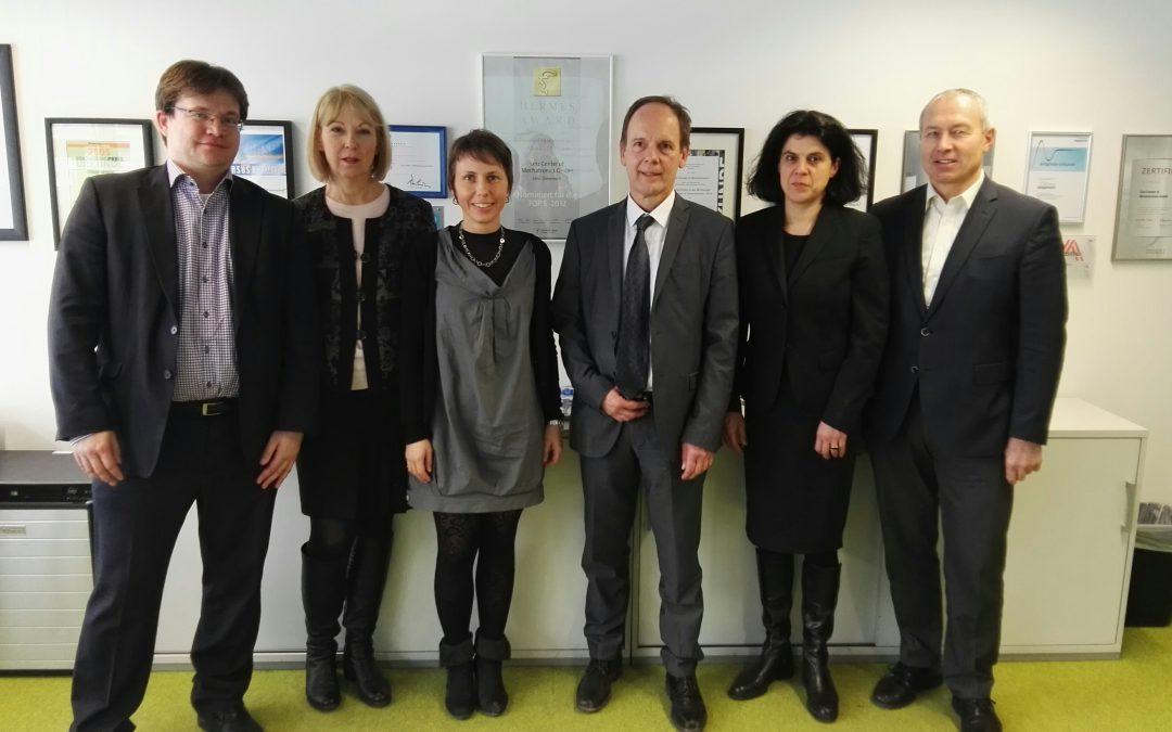 Tschechische Botschafter Delegation auf Besuch bei der Linz Center of Mechatronics GmbH (LCM)