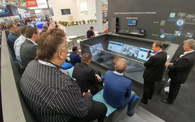 "LCM with outdoor TV studio at Hanover Fair: ""Twin Space"" fuses real machines with digital ones"
