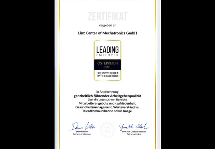 LCM ist Leading Employer 2021
